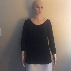 Black knit blouse